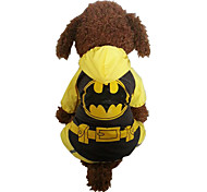 Yellow BatMan Waterproof Cotton Rain Coat For Dogs Pet