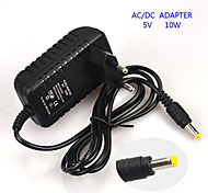 10W 5V 2A EU Plug AC Power Adapter for LED Light Bulb and Surveillance Security Camera (5.5x2.1mm/100~240V)