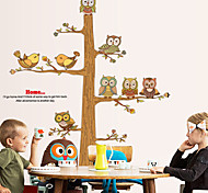 Wall Stickers Wall Decals, Lovely Owls Tree PVC Wall Stickers