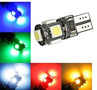 2W T10 Luz de Decoração 5 SMD 5050 120 lm Branco Frio / Verde / Vermelho / Azul / Amarelo Decorativa DC 12 V 2 pçs