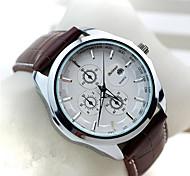 moda masculina de quartzo de visita clássico relógios com funções de calendário data automática