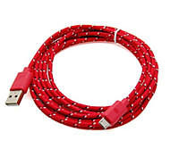 2M 6ft Micro USB Charging and Data Sync Cord Cable Fabric Braided Woven for Samsung HTC Android Devices Assorted Color
