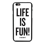 Life is Fun Design PC Hard Case for iPhone I5