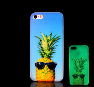 Pineapple Pattern Glow in the Dark Cover for iPhone 4 / iPhone 4 S Case
