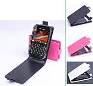 pu cuero funda protectora con soporte del sostenedor para blackberry 9900 (colores surtidos)