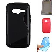 cubierta de protección accesorio piel TPU funda de silicona de gel de buena calidad s-diseño para Samsung Galaxy Ace 4 (colores surtidos)