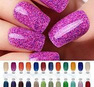 The New Nail Art UV Gel Sugar Phototherapy Color gel  (8ml,Assorted Colors)
