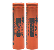 Power 3.7V 6000mAh 18650 Rechargeable Lithium Ion Battery(2pcs)