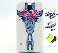 Für Muster Hülle Rückseitenabdeckung Hülle Tier Hart TPU Samsung S5