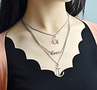 New Trendy Design Three Layers Gold And Silver Women Necklace Chain