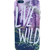Live Wild Pattern TPU Soft Case for iPhone 5C