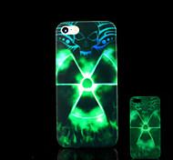 radiación patrón resplandor en el caso duro para el iphone 5 oscuro / iphone 5 s
