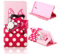 Bowknot Pattern PU Leather Case with Stand for Samsung Galaxy A5