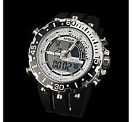 New fashion men's business double movement movement waterproof anti fall large dial watches LCD BWL601