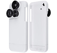 4-in-1 Rotary Dial Wide Angle Macro Fisheye Telephoto Camera Lens Case for iPhone 6s 6 Plus