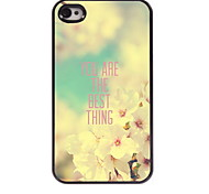 You Are The Best Thing Design Aluminum Hard Case for iPhone 4/4S
