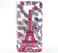 Pink Tower Pattern Relief TPU Soft Back Cover for LG L90