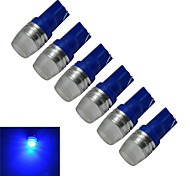 JIAWEN® 6pcs T10 1.5W 90LM Blue Light  Side Maker Lamp LED Car Light (DC 12V)