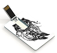 16GB The Wolf and The Dream Catcher Design Card USB Flash Drive