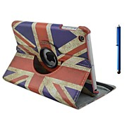 9.7 Inch 360 Degree Rotation Flag Pattern with Stand Case and Pen for iPad Air /iPad 5