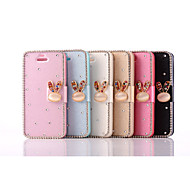 Rhinestone Rabbit PU Leather Full Body Case for iPhone 5S (Assorted Colors)