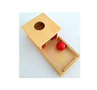caixa de permanência com a bandeja pré-escolar brinquedo- objeto