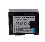 Paquete de batería de la cámara 890mAh para Canon BP-809 +