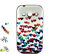 color modello del cuore pc e tpu combo spina della polvere combinazione touch pen staffa materiale per Samsung Galaxy Ace 4 g357fz