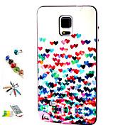 color modello del cuore pc e tpu combo spina della polvere combinazione touch pen staffa materiale per Samsung Galaxy Note 4