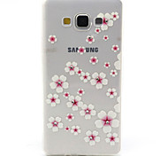 Pink Flowers Pattern TPU Diamond Relief Back Cover Case for Samsung Galaxy A7