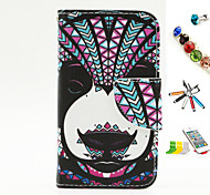 Dog Pattern PU Material Multi-Function Mobile Phone Shell And Stylus Pen Dust Plug Bracket Assembly for iPhone 4/4S