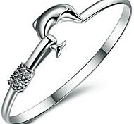 S925 Sterling Silver Dolphin Bracelet
