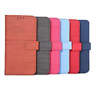 aleta de madeira grão couro celular capa protetora para Samsung Galaxy S6 (cores sortidas)
