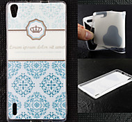 Crown Pattern TPU Ultra Soft Case for Huawei Ascend P7