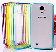 GYM Luxury Clear TPU Frame Acrylic Back Case for Samsung Galaxy S4 I9500(Assorted Color)