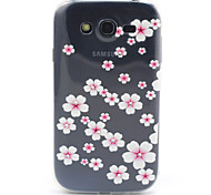 Pink Flowers Pattern Diamond Relief TPU Soft Cover for Samsung Galaxy Grand Neo I9060/ Galaxy Grand I9080/I9082
