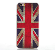 For iPhone 6 Case / iPhone 6 Plus Case Frosted Case Back Cover Case Flag Hard PC iPhone 6s Plus/6 Plus / iPhone 6s/6