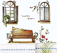 Pastoral Scenery Outside The Window PVC Wall Stickers Wall Art Decals