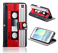 Tape Pattern PU Leather Full Body Case with Card Slots And Stand Case for  Samsung Galaxy A3