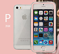 Transparent Flip Free Turn Touch TPU Triple Phone Case for iPhone 5/5S(Assorted Colors)