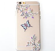 Butterfly Pattern Design Plastic Hard Case for iPhone 6