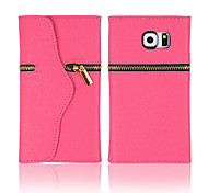 Zipper PU Leather Case for Samsung Galaxy S6(Assorted Colors)