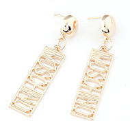Drop Earrings Alloy Statement Jewelry Gold Jewelry 2pcs