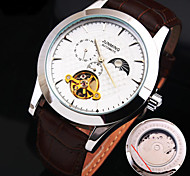 Men's New Explosion Round Dial Genuine Leather Strap Fashion Mechanical Watch  (Assorted Colors)