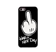 Для Кейс для iPhone 5 С узором Кейс для Задняя крышка Кейс для Черный и белый Твердый PC iPhone SE/5s/5
