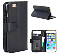 Magic Spider® Flip Open PU Leather Wallet Case Cover Stand with Screen Protector for iPhone 6