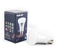 1 stuks Bestlighting E26/E27 8 W 16 SMD 5730 650 LM RGB Dimbaar/Op afstand bedienbaar/Decoratief Slimme LED-lampen AC 85-265 V