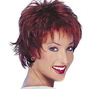 perucas de cabelo perucas sintéticas médias comprimento curto de mulher natural sintético