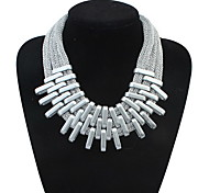 Fashion Women's Jewelry for Europe and the United States Popular Necklace (Silver)