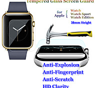 2in1 9H Hardness 2.5D Round Edge ExplosionProof Tempered Glass Screen Protector for Apple Watch 38mm Watch Sport